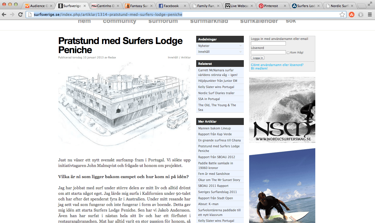 Press - Surfers Lodge Peniche