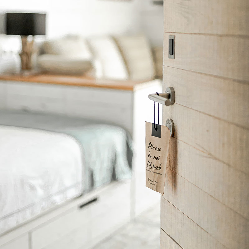 Single room door tag